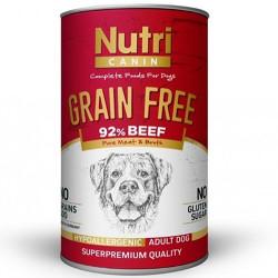 Nutri Feline - Nutri Canine Grain Free Tahılsız Biftekli Köpek Konservesi 400 Gr