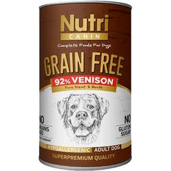 Nutri Feline - Nutri Canine Grain Free Tahılsız Geyikli Köpek Konservesi 400 Gr
