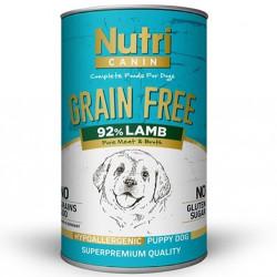 Nutri - Nutri Canine Puppy Grain Free Tahılsız Kuzu Etli Yavru Köpek Konservesi 400 Gr