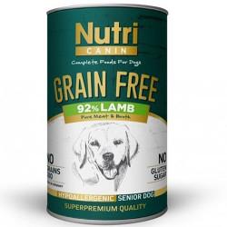 Nutri Feline - Nutri Canine Senior Grain Free Tahılsız Kuzu Etli Yaşlı Köpek Konservesi 400 Gr