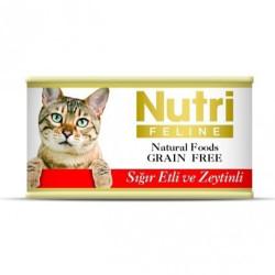 Nutri Feline - Nutri Feline Sığır Eti ve Zeytinli Tahılsız Kedi Konservesi 85 Gr