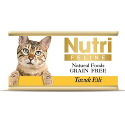 Nutri - Nutri Feline Tavuk Etli Tahılsız Kedi Konservesi 85 Gr