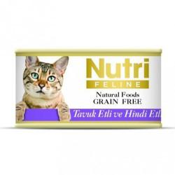 Nutri - Nutri Feline Tavuk ve Hindi Etli Tahılsız Kedi Konservesi 85 Gr