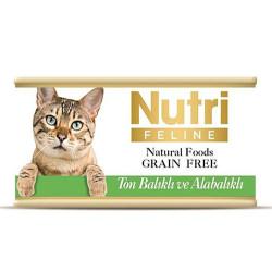 Nutri Feline - Nutri Feline Ton Balık ve Alabalık Tahılsız Kedi Konservesi 85 Gr