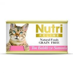 Nutri Feline - Nutri Feline Ton Balıklı ve Somonlu Tahılsız Kedi Konservesi 85 Gr