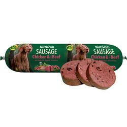 Nutrican - Nutrican Sausage Tavuk ve Biftek Etli Köpek Ödül Sosisi 800 Gr