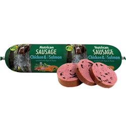 Nutrican - Nutrican Sausage Tavuk ve Somon Balıklı Köpek Ödül Sosisi 800 Gr