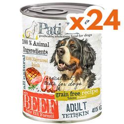 Pati Life - Pati Life Beef Sığır Etli Tahılsız Köpek Konservesi 415 Grx24 Adet