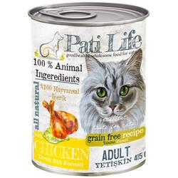 Pati Life - Pati Life Chicken Tavuk Etli Yetişkin Kedi Konservesi 415 Gr