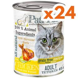 Pati Life - Pati Life Chicken Tavuk Etli Yetişkin Kedi Konservesi 415 Gr x 24 Adet