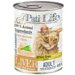 Pati Life - Pati Life Ciğer Etli Tahılsız Kedi Konservesi 415 Gr