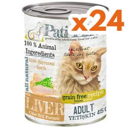 Pati Life - Pati Life Ciğer Etli Tahılsız Kedi Konservesi 415 Grx24 Adet
