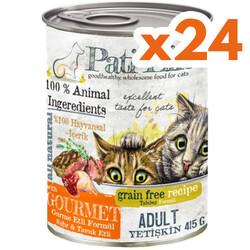 Pati Life - Pati Life Gourmet Sığır ve Tavuk Etli Tahılsız Kedi Konservesi 415 Grx24 Adet