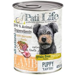 Pati Life - Pati Life Junior Lamb Kuzu Etli Tahılsız Yavru Köpek Konservesi 415 Gr