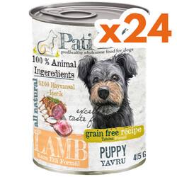 Pati Life - Pati Life Junior Lamb Kuzu Etli Tahılsız Yavru Köpek Konservesi 415 Gr x 24 Adet