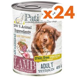 Pati Life - Pati Life Lamb Kuzu Etli Tahılsız Köpek Konservesi 415 Gr x 24 Adet