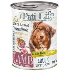 Pati Life - Pati Life Lamb Kuzu Etli Tahılsız Köpek Konservesi 415 Gr