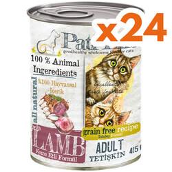 Pati Life - Pati Life Lamb Kuzu Etli Tahılsız Kedi Konservesi 415 Grx24 Adet