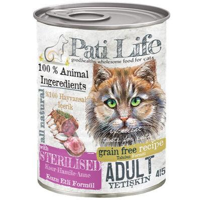 Pati Life Sterilised Kuzu Etli Kısırlaştırılmış Tahılsız Kedi Konservesi 415 Gr