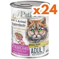 Pati Life - Pati Life Sterilised Kuzulu Kısırlaştırılmış Tahılsız Kedi Konservesi 415 Gr x 24 Adet
