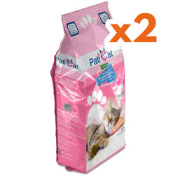 PatiCat - PatiCat Bebek Pudralı Doğal Kalın Taneli Kedi Kumu 10 Lt x 2 Adet