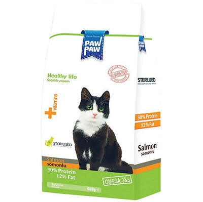 Paw Paw Sterilised Somonlu Kısırlaştırılmış Kedi Maması 500 Gr