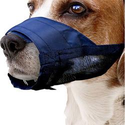 Pawise 13011 Naylon Siyah Kumaş Köpek Ağızlık XSmall No: 1 - Thumbnail