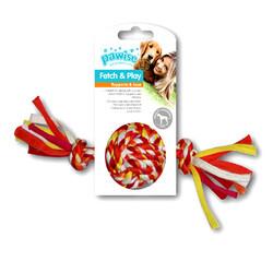 Pawise - Pawise 14877 Renkli Düğümlü İp Top Köpek Oyuncağı 20 Cm