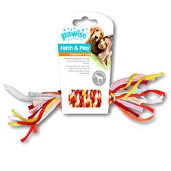 Pawise - Pawise 14880 Renkli Düğümlü İp Kemik Köpek Oyuncağı 27 Cm