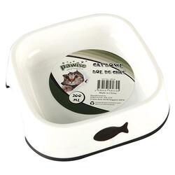 Pawise - Pawise 28034 Balık Desenli Plastik Kedi Mama Kabı 200 ML