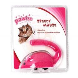Pawise - Pawise 28212 Hızlı Kurmalı Fare Tekerlekli Kedi Oyuncağı