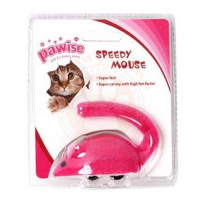 Pawise 28212 Hızlı Kurmalı Fare Tekerlekli Kedi Oyuncağı