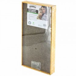 Pawise - Pawise 28496 Catnip (Kedi Otlu) Karton Kedi Tırmalama 48 x 24 cm