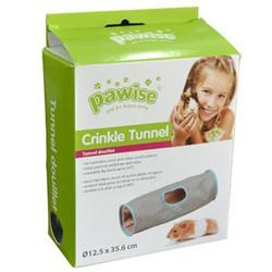 Pawise - Pawise 39255 Crinkle Tunnel Kumaş Hamster Oyun Tüneli 12,5x35,6 Cm