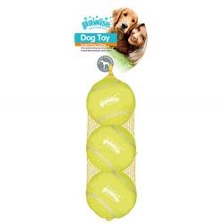 Pawise - Pawise Kauçuk 3lü Tenis Topu Köpek Oyuncağı 6,5 Cm