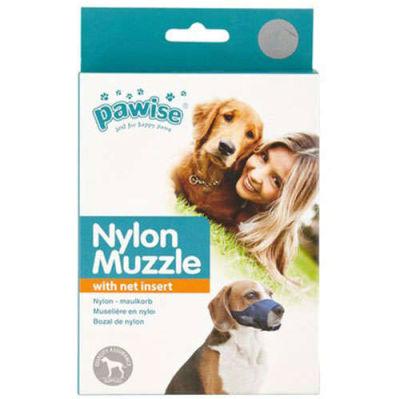 Pawise 13013 Naylon Siyah Kumaş Köpek Ağızlık Medium No: 3