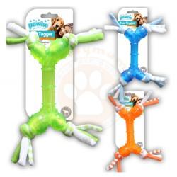 Pawise - Pawise Toss Tugger Kauçuk Renkli Köpek Oyuncağı