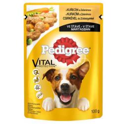 Pedigree - Pedigree Gravy Sos İçinde Tavuk Etli ve Sebzeli Köpek Yaş Maması 100 Gr