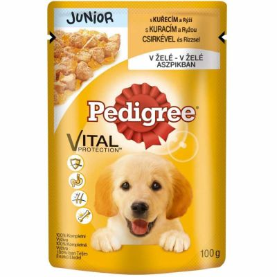 Pedigree Junior Tavuk Etli e Jöleli Yavru Köpek Yaş Maması 100 Gr