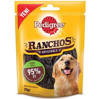 Pedigree Ranchos Originals Kuzu Etli Yumuşak Köpek Ödülü 70 Gr