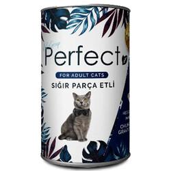 Perfect - Perfect Beef Sığır Eti Parçacıklı Yetişkin Kedi Konservesi 400 Gr