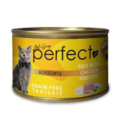Perfect - Perfect Chicken Pate Kıyılmış Tavuklu Tahılsız Kedi Konservesi 80 Gr