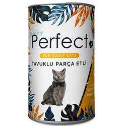 Perfect - Perfect Chicken Tavuk Eti Parçacıklı Yetişkin Kedi Konservesi 400 Gr