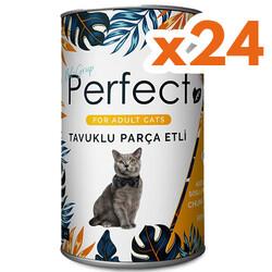 Perfect - Perfect Chicken Tavuk Eti Parçacıklı Yetişkin Kedi Konservesi 400 Gr x 24 Adet