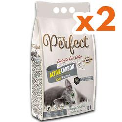 Perfect - Perfect İnce Taneli Active Carbon Topaklanan Kedi Kumu 10 Lt X 2 Adet