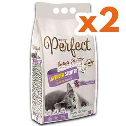 Perfect - Perfect İnce Taneli Lavantalı Topaklanan Kedi Kumu 10 Lt X 2 Adet