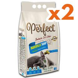 Perfect - Perfect İnce Taneli Marsilya Sabunlu Topaklanan Kedi Kumu 10 Lt X 2 Adet