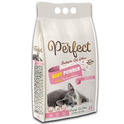 Perfect - Perfect İnce Taneli Bebek Pudralı Topaklanan Kedi Kumu 5 Lt