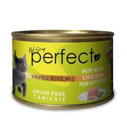 Perfect - Perfect Kitten Chicken Pate Kıyılmış Tavuk Etli Tahılsız Yavru Kedi Konservesi 80 Gr