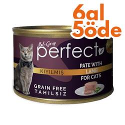 Perfect - Perfect Lamb Pate Kıyılmış Kuzu Etli Tahılsız Kedi Konservesi 80 Gr - 6 Al 5 Öde